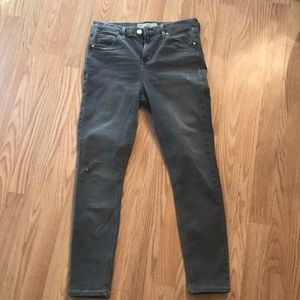 Women's grey denim jeans